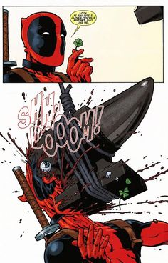 Funny Deadpool comics are a staple of the character himself. He's a well-known, well-liked parody of comic book characters themselves. Comic Book Characters, Comic Character, Comic Books Art, Comic Art, Marvel Characters, Bd Comics, Marvel Dc Comics, Marvel Heroes, Deadpool Comics