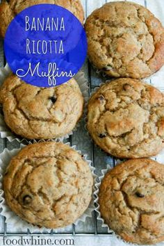 Fabulous muffins! A great way to use my leftover ricotta cheese.