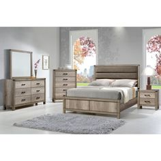 Crown Mark Matteo Queen Bedroom Group | Royal Furniture | Bedroom Groups