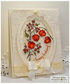 ChristineCreations: Pretty Lanterns. Sunny Harvest stamp set by Power Poppy, card design by Christine Okken.