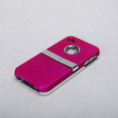 MetaiCase Deluxe ATT Verizon Pink Iphone 4 4S 4G Case Cover with Kickstand