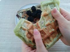 These sticky, glutinous Matcha mochi waffles are a unique take on the iconic breakfast waffles. The addition of the glutinous rice flour are a funky addition to the traditional waffle batter  They are crispy on the outside and chewy on the inside making them a fun and delightful treat to eat.