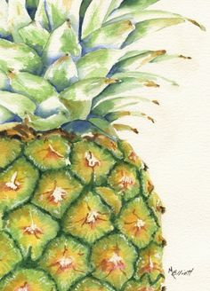"""Aloha"" [Print By Marsha Elliott] - My mother grew up on Kauai, Hawaii, where her family raised Pineapple and Sugar Cane!"