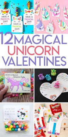 12 magical unicorn valentines
