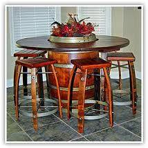 wine barrel table with wine barrel stools-@Bobbi Bernat in case you missed your old ones. lol