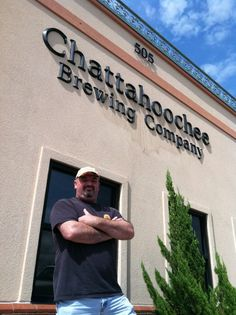 Me, standing in front of the New Chattahoochee Brewing Company