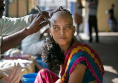 18 Photos Of Women's Heads Being Shaved For Superstition, Celebration, Wigs, And God