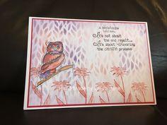 Dina Wakley Scribbly Birds on Branches, Wendy Vecchi Wild Flower Art, Distress Inks