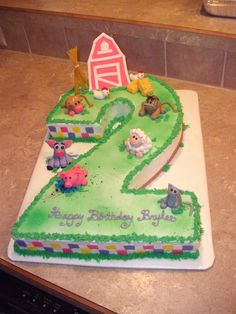 Barnyard cake for a sweet little girl!