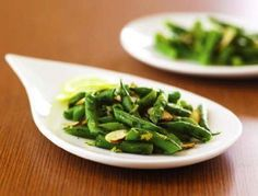 Lemon Green Beans with Parsley and Almonds: This recipe is brought to you by the American Heart Association's Patient Education program.