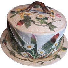 Antique Majolica Cheese Dome. $2500