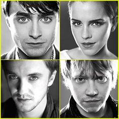 Daniel Radcliffe (Harry Potter), Emma Watson (Hermione Granger), Tom Felton (Draco Malfoy), Rupert Grint (Ron Weasley)