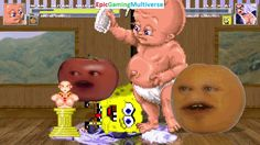 Annoying Orange & Infant Mutant Naughty Baby VS Black Cat & SpongeBob SquarePants In A MUGEN Match This video showcases Gameplay of SpongeBob SquarePants And Black Cat VS Infant Mutant Naughty Baby And The Annoying Orange In A MUGEN Match / Battle / Fight
