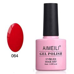 Shop for Aimeili Red Gel Nail Polish Soak Off Uv Led Gel Varnish - Pillar Box Red Starting from Choose from the 2 best options & compare live & historic beauty prices. Red Gel Nails, Blue Nail Polish, Soak Off Gel Nails, Gel Polish, Wedding Nails For Bride, Bride Nails, Wedding Dress, Classy Nail Designs, Red Nail Designs