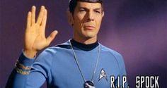 """Spok - Star Trek - R.I.P -  O ator norte-americano Leonard Nimoy, conhecido pelo papel de Spock em """"Jornada nas estrelas"""", morreu aos 83 anos, na manhã desta sexta-feira (27), em sua casa em Bel Air, bairro de Los Angeles."""