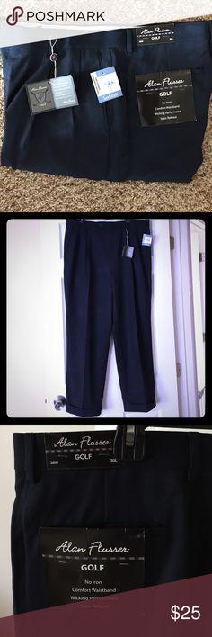 NWT Men's Navy Dress Pants NEW WITH TAGS Men's Alan Flusser Navy Golf Pants. 38W, 30L. Alan Flusser Pants Dress
