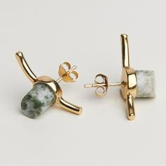 Wired Single Earring - Gold-plated