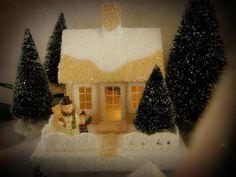 Amongst The Oaks: Putz Houses, Glitter Houses