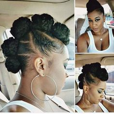 A nice spin on the ♡●♡●♡ Bantu Knot Hairstyles, Natural Afro Hairstyles, Black Girls Hairstyles, African Hairstyles, Protective Hairstyles, Cute Hairstyles, Weekend Hairstyles, Wedding Hairstyles, Curly Hair Styles