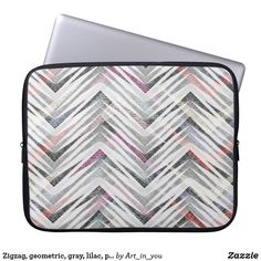 Trendy Arrows Abstract Geometric Pattern Laptop Sleeve #ad #laptopsleeves