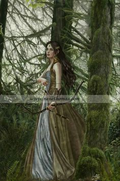 Forest archer lady
