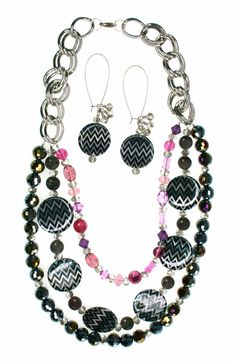 #DIY Chevron Jewelry Set   How To Instructions available on Joann.com