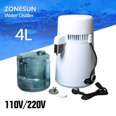 4L Portable Stainless steel Water Distiller Pure Water Filter Purifier Water Purifier water distiller filter treatment Container #Affiliate