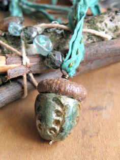 acorn gatherer by woodlandjewelries on Etsy, £28.00