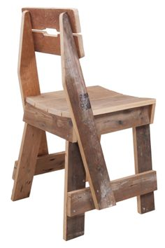 Piet Hein Eek. Pallet chair. A lot of photos of this variety of chair. Few from the back.