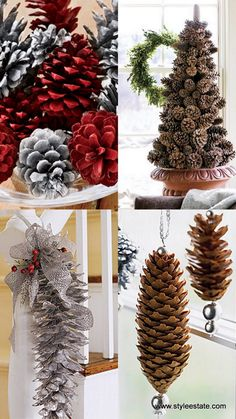 inexpensive Chistmas decor ideas- turn to Mother Nature