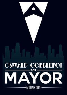 Oswald Cobblepot For Mayor (Gotham) Poster