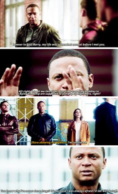 Diggle's reactions #TheFlash #Season3 #3x08 - Crossover Part 1!