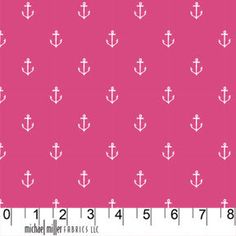 LAST 23 inches of this FUN Anchors Away (Raspberry) fabric from Sarah Jane's Out to Sea collection. http://etsy.me/SD0pRS via @Etsy $6.40