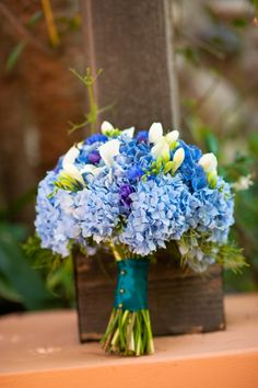 blue wedding flower bouquet, bridal bouquet, wedding flower