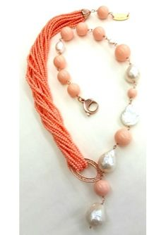 Necklace Designs, Trendy Fashion, Creativity, Beaded Necklace, Jewelry Making, Coral, Jewels, Couture, Beads
