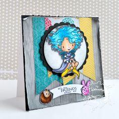 Soo my favorite!!!! Chloe Ellie New Release - Chloe Darkwing and Friends #thezadisproject #cardmaking #tiddlyinks