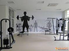 Imagen relacionada Gym Interior, Interior Architecture, Fitness Centers, Window Graphics, Gym Design, Health Club, Wall Murals, Gym Equipment, Concept
