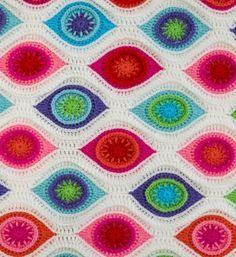 Crochet Retro Ornament Blanket