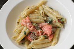 Week of Menus: Creamy Smoked Salmon Pasta with Capers, Scallions, and Lemon: Grace and mercy