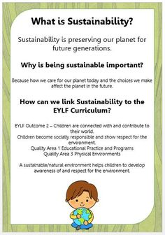 Professional Life: Teaching children the importance of sustainability.