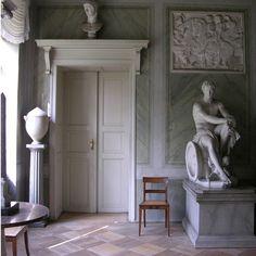 Schloss Tegel, interior, Karl Friedrich Schinkel, 1821
