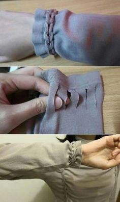 Hacer trenzado camiseta