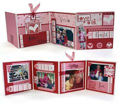 Valentines mini accordian album