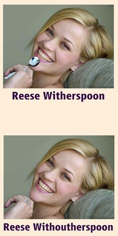 There have been a lot of internet trends and memes and puns are always popular. Here are 55 more funny and hilarious celebrity name puns you're gonna love! Humor Mexicano, Reese Witherspoon, Haha Funny, Funny Memes, Funny Stuff, That's Hilarious, Stupid Stuff, Stupid Funny, Sarcastic Memes