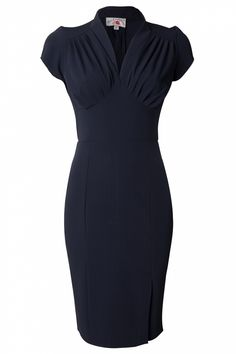 even in blue this is stunning!  Miss Candyfloss - 50s Mavis blue pencil dress