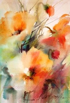 Watercolors, Oils and Acrylics by Brazilian artist Fabio Cembranelli featuring a gallery of original paintings, art tutorials, watercolor tips and his daily paintings. Watercolor Landscape, Abstract Watercolor, Watercolor And Ink, Watercolor Flowers, Watercolor Paintings, Original Paintings, Watercolors, Watercolor Artists, Watercolor Portraits