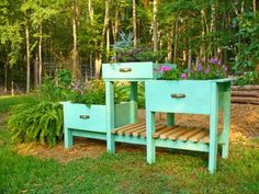 raised planter boxes from drawers