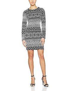 42 (Manufacturer size: X-Large), Black, ONLY Women's Onlrose L/S Jrs Dress NEW
