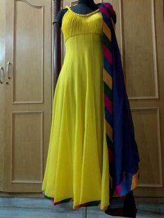 Half Saree Lehenga, Anarkali Dress, Anarkali Suits, Sarees, Punjabi Suits, India Fashion, Suit Fashion, Fashion Dresses, Indian Dresses