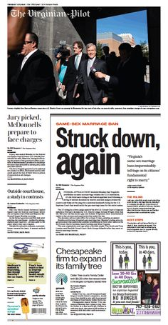 The Virginian-Pilot's front page for Tuesday, July 29, 2014.